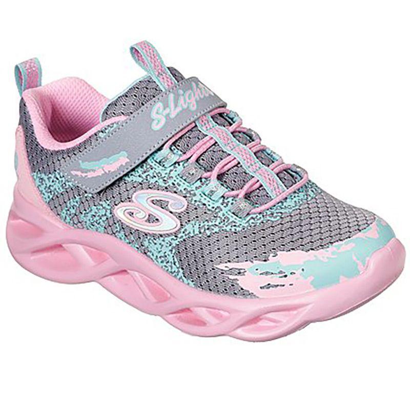 Skechers Kids' S Lights: Twisty Brights PS Trainers Light Pink / Multi
