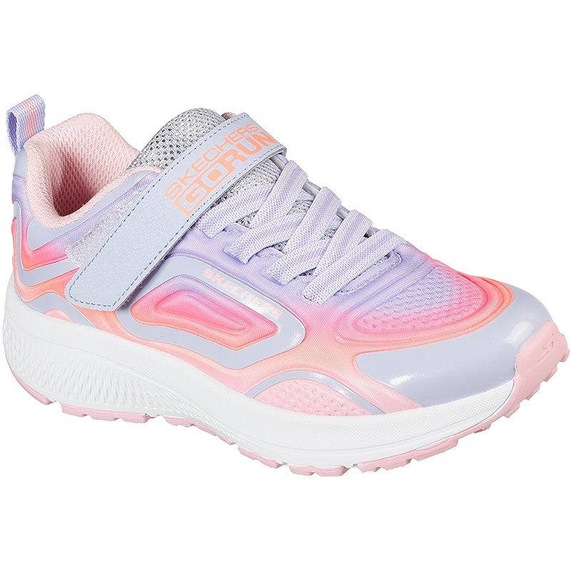 purple multi coloured Skechers Kids' trainers, comfortable and lightweight from O'Neills