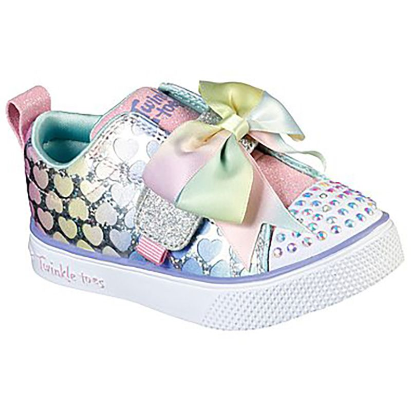 Skechers Kids' Twinkle Toes: Twinkle Breeze - Hearts Glitz Infant Trainers Light Pink / Multi
