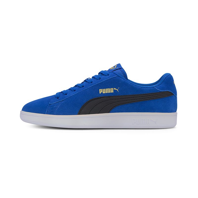 blue and navy Puma men's sport style shoe with a soft suede upper from O'Neills