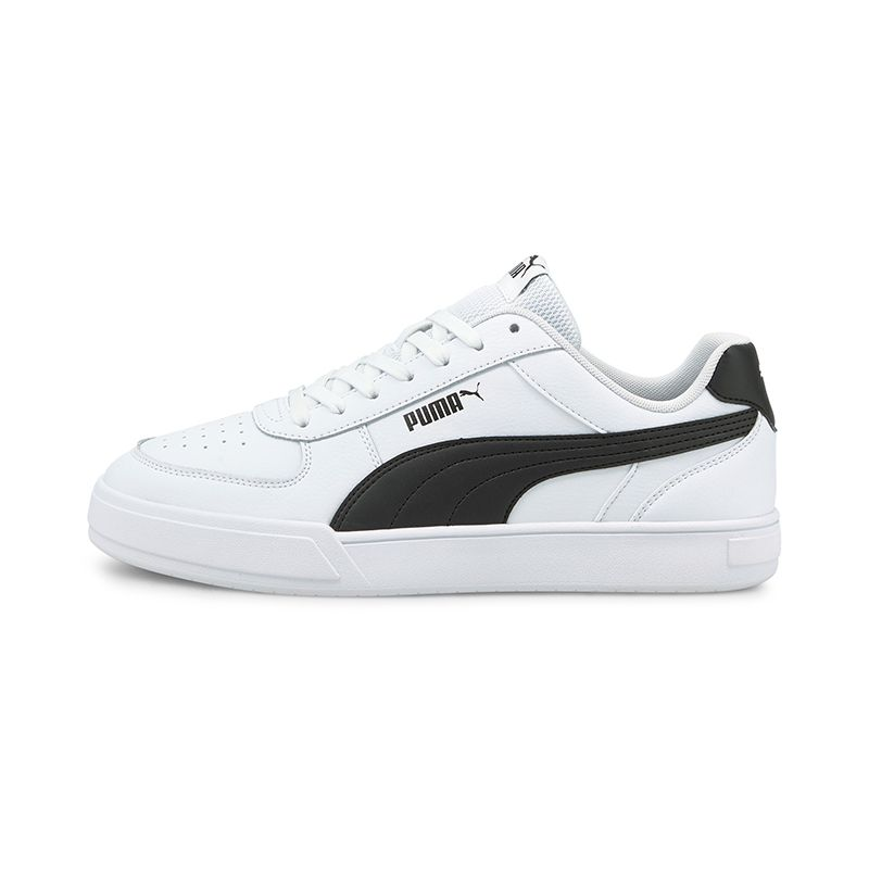 white and black Puma men's trainers with a low boot profile from O'Neills