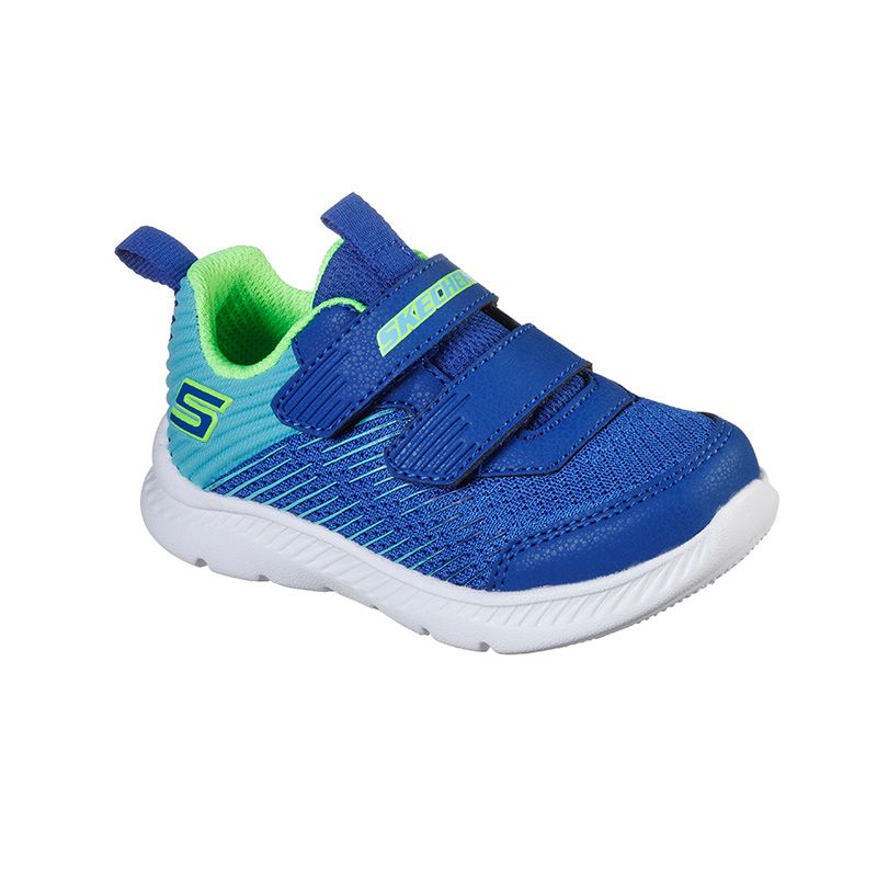 blue and green Skechers kids' trainers with a cushioned comfort insole from oneills.com