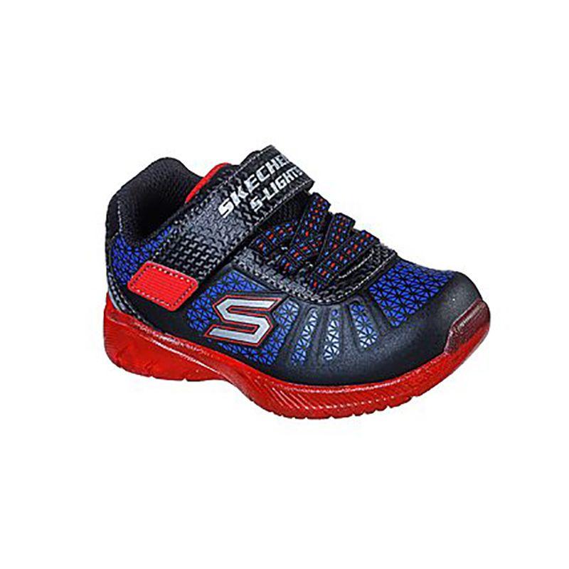 Skechers Kids' Illumi-Brights Infant Trainers Black / Red / Blue