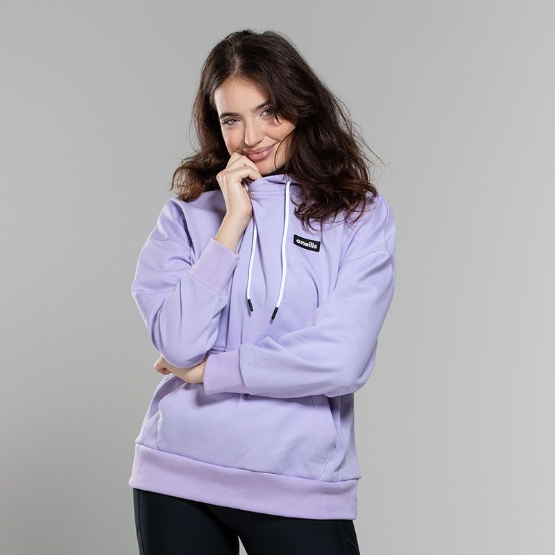 Purple women's oversized sweatshirt with ribbed cuffs from O'Neills.