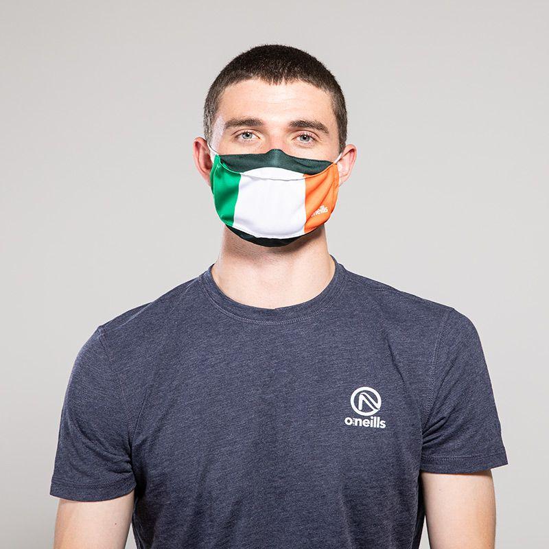 Reusable Face Mask Green / White / Orange