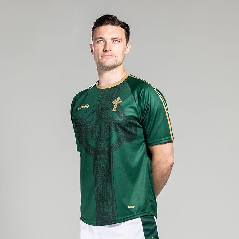 Celtic Cross Jersey Green