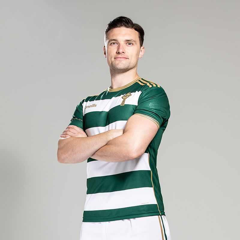 Celtic Cross Hooped Player Fit Jersey Green / White