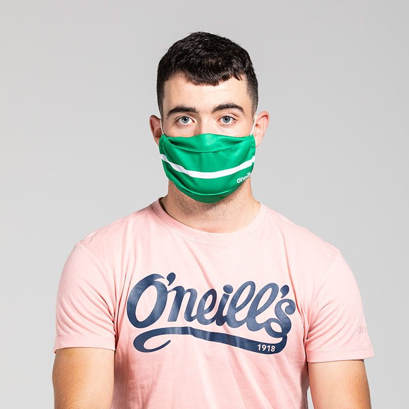 Reusable Face Mask Green / White
