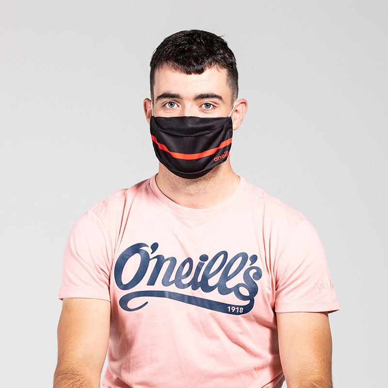 Reusable Face Mask Black / Red