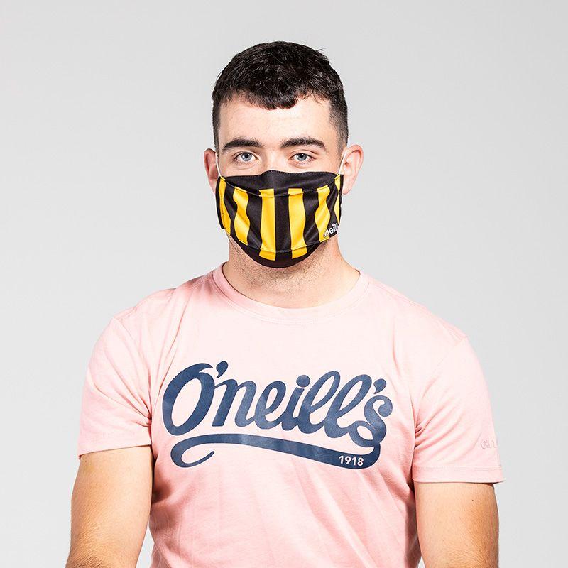 Reusable Face Mask Black / Amber