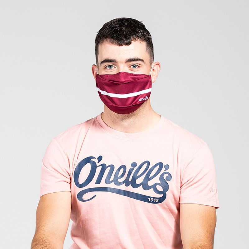Reusable Face Mask Maroon / White