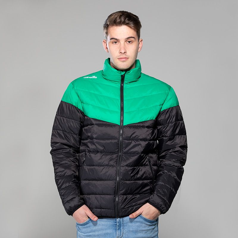 Men's Norton Padded Jacket Black / Green