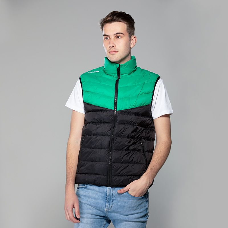 Men's Norton Padded Gilet Black / Green