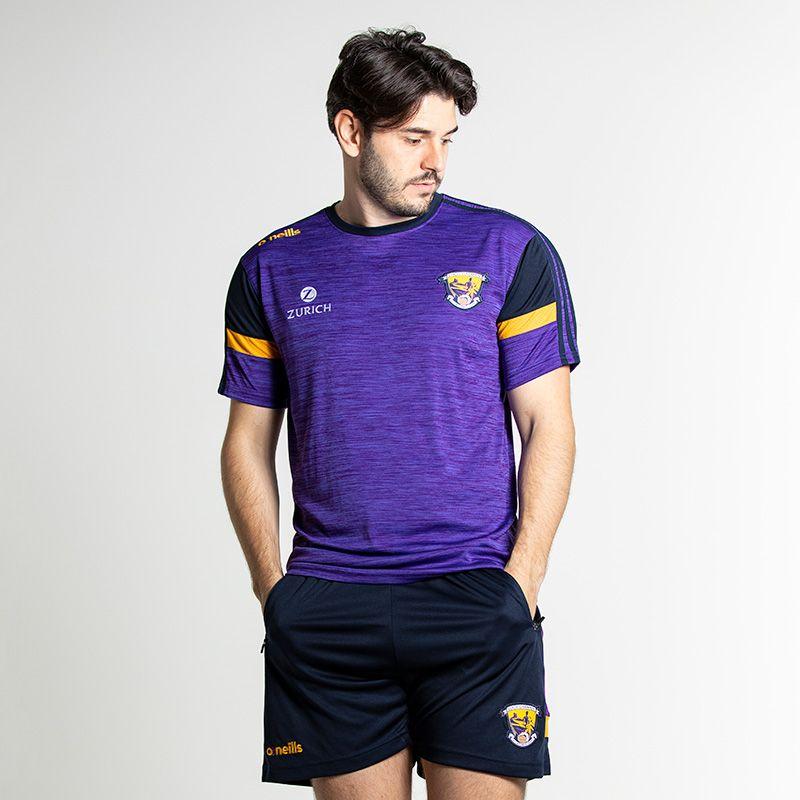 Wexford GAA Men's Portland T-Shirt Purple / Marine / Amber