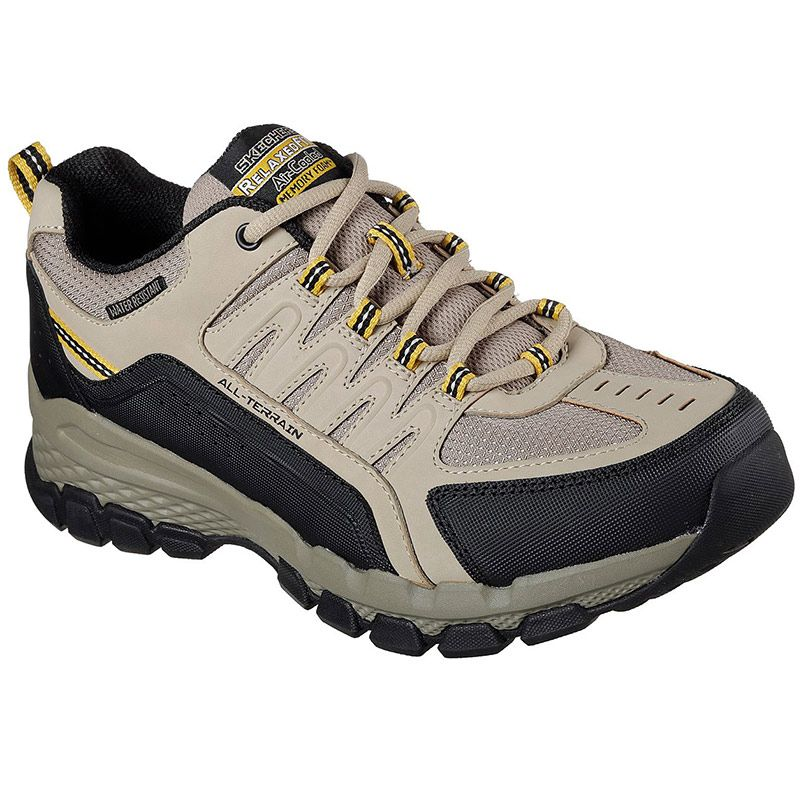 Skechers Men's Outlander 2.0 Rip-Staver Shoes Taupe / Black