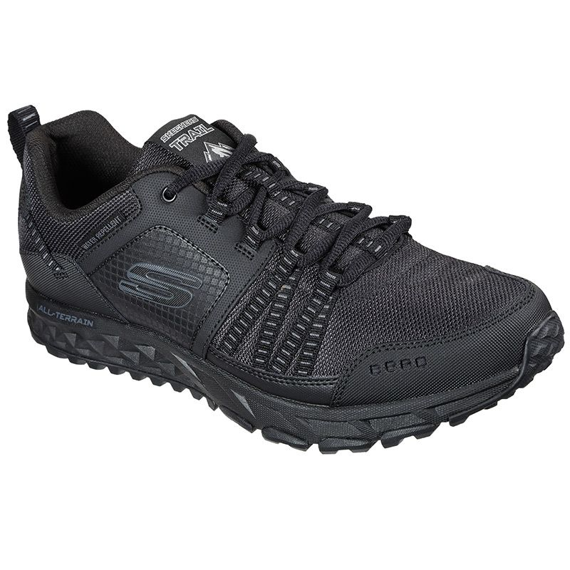 black Skechers men's lace up athletic trail and training sneaker from O'Neills