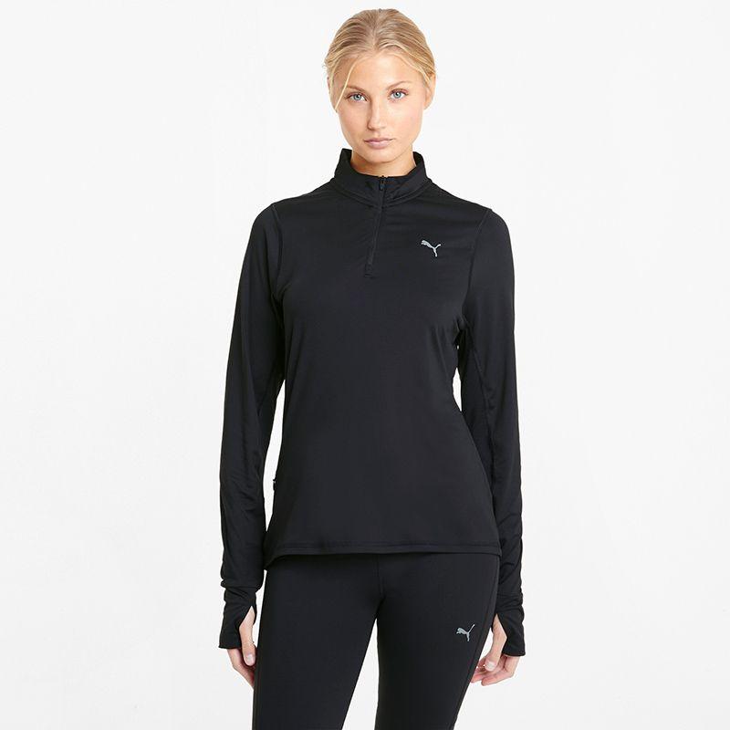 Puma Women's Favourite 1/4 Zip Running Top Black