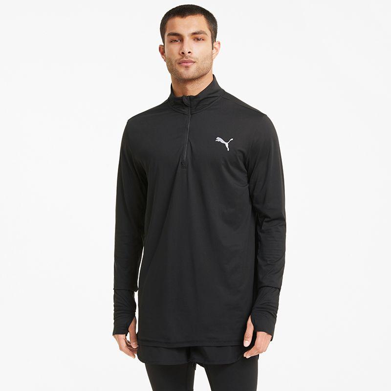 Puma Men's Favourite 1/4 Zip Running Top Black