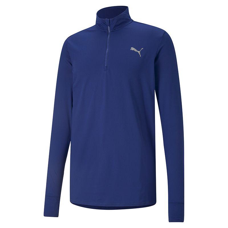 Puma Men's Favourite 1/4 Zip Running Top Blue