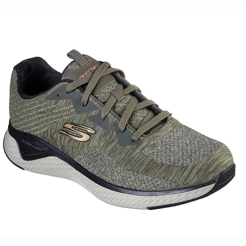 Skechers Men's Solar Fuse - Kryzik Sport Shoes Olive / Black