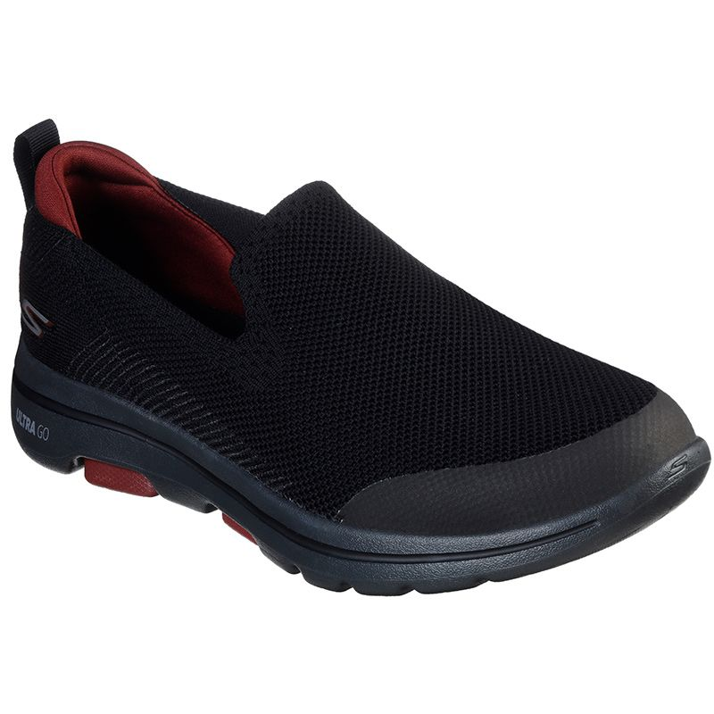 black Skechers men's trainers with lightweight cushioning from oneills.com