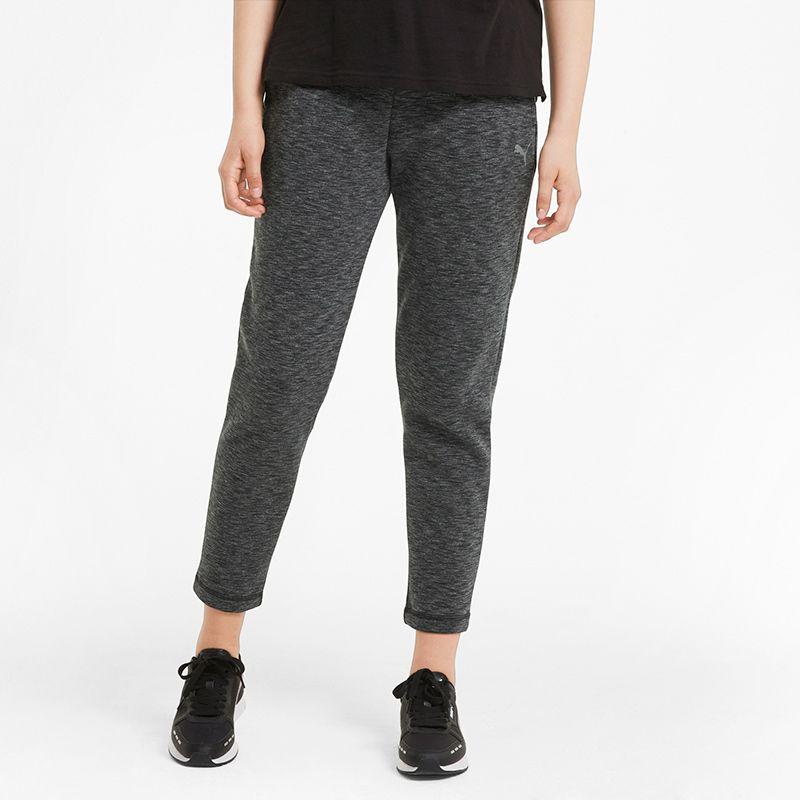 Black Puma women's loungewear sweatpants with elasticated waistband from O'Neills.