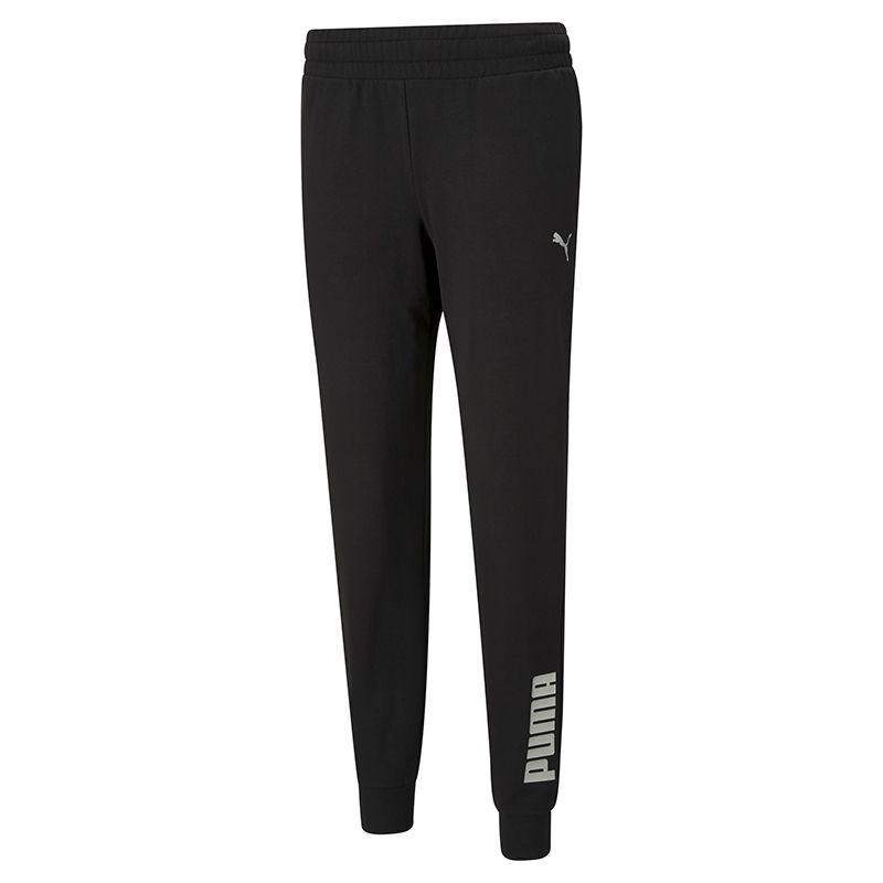 Black Puma women's loungewear joggers with adjustable waist from O'Neills.