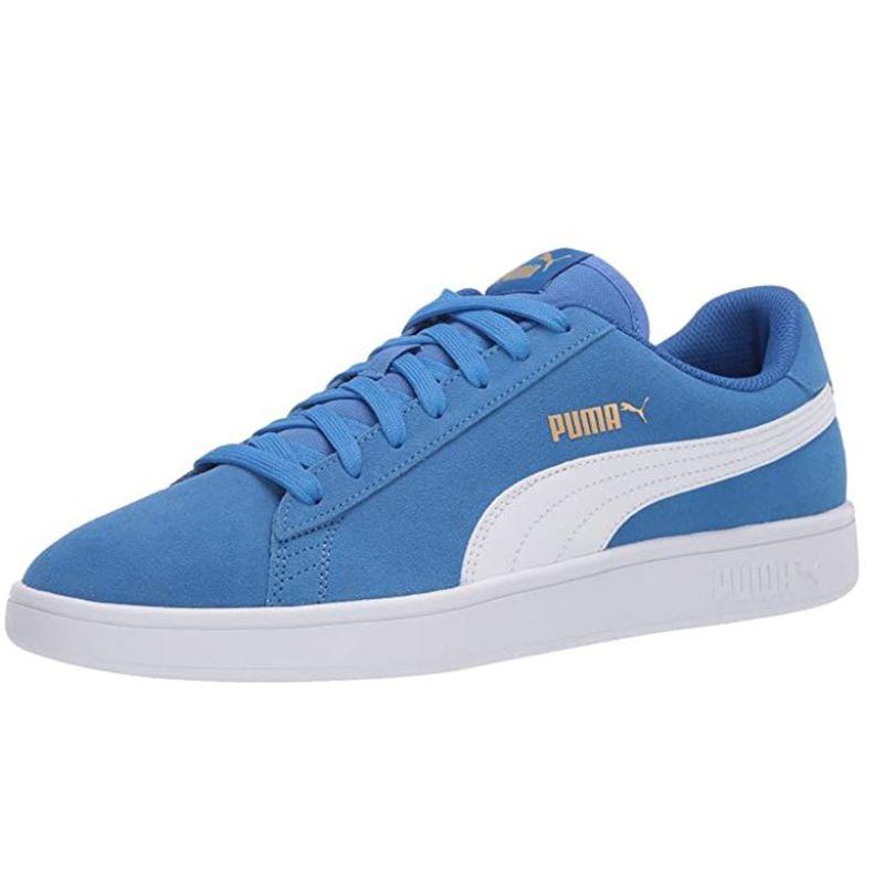 Puma Men's Smash V2 Trainers Palace Blue / White / Gold
