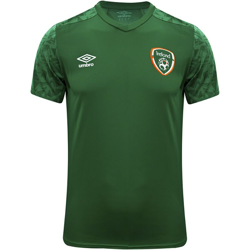 Umbro Republic of Ireland 2021 Men's Training Jersey Pine Green / Dark Pine Green