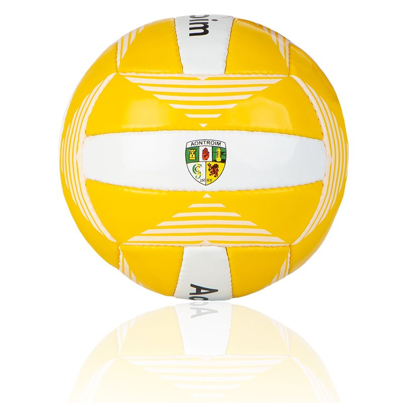 Antrim GAA All Ireland Midi Gaelic Football Amber / White