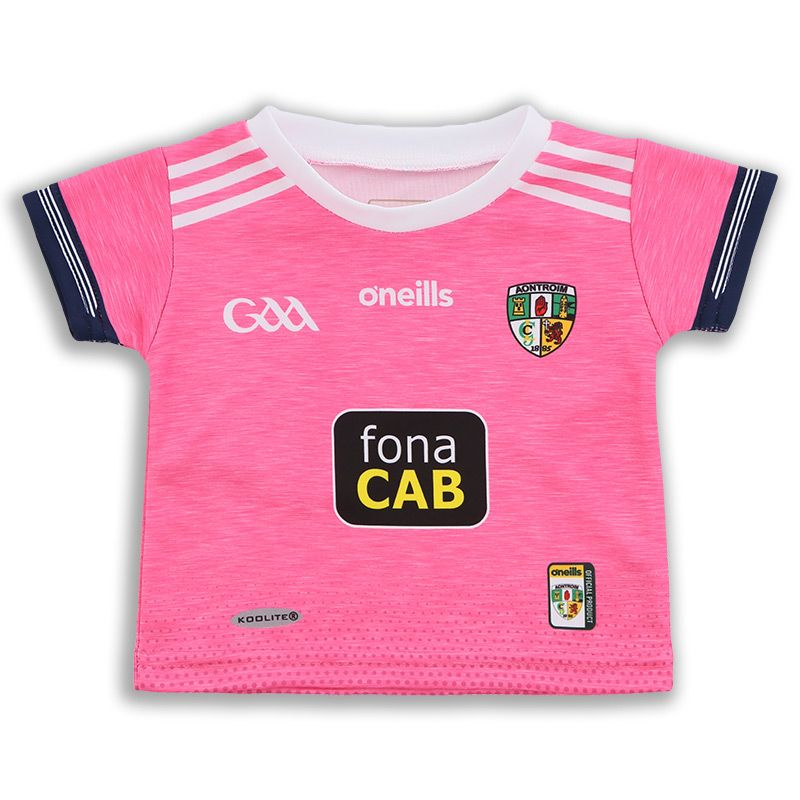Antrim GAA Baby Away Pink Jersey