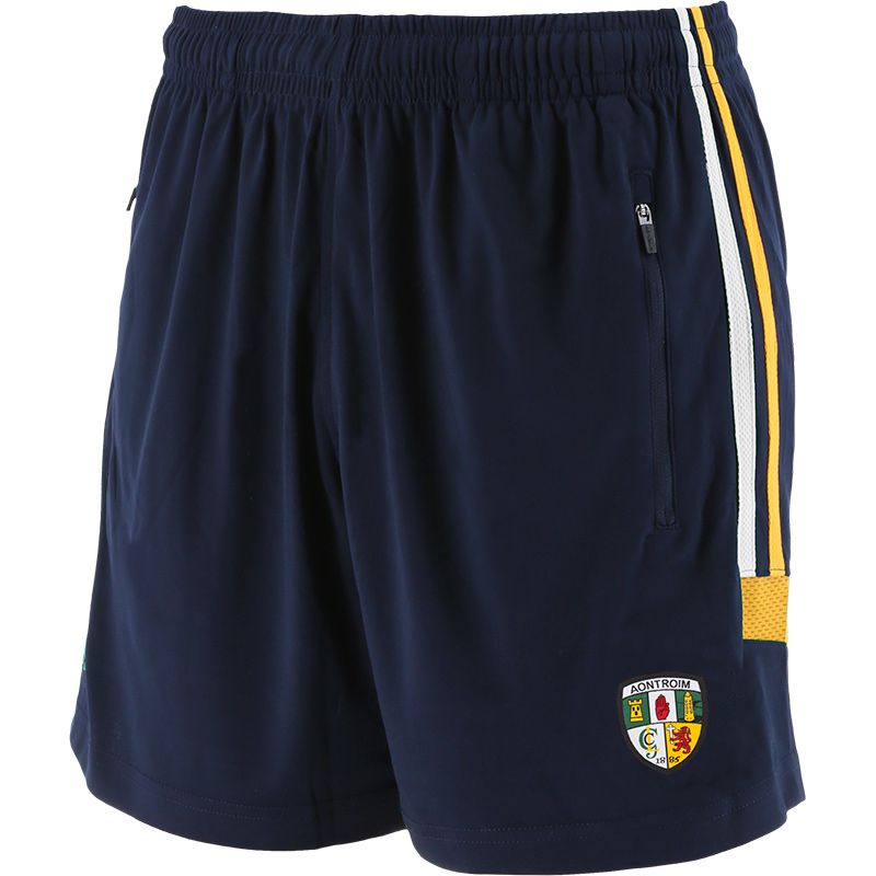 Antrim GAA Men's Raven Training Shorts Marine / White / Amber