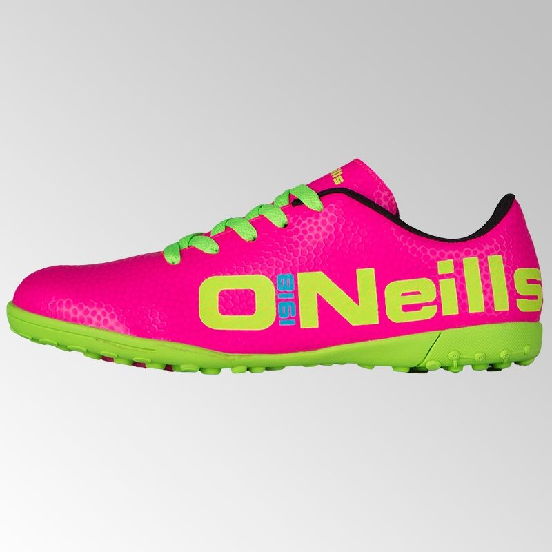 Apollo 2 Astro Laced Football Trainer Junior Pink / Lime / Blue