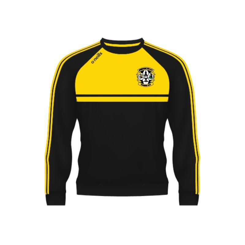 Ashbourne United Kids' Mason Crew Neck Black / Gold