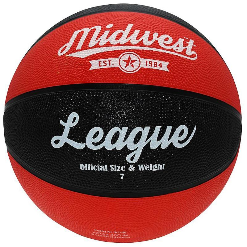 Midwest League Basketball Size 7 Black / Red