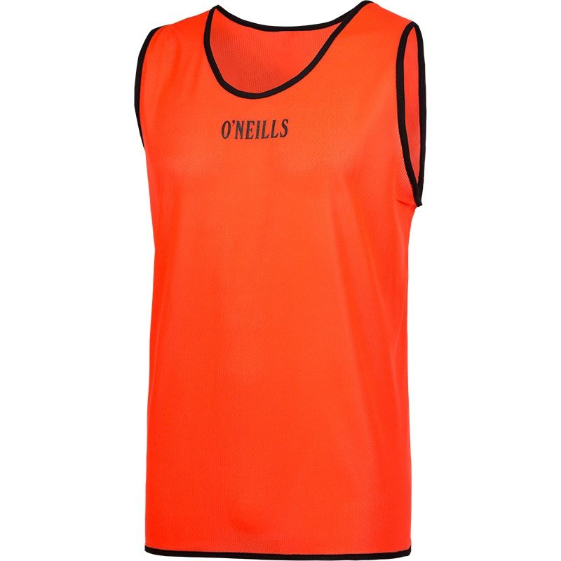 Single Mesh Training Bib (Orange) Kids