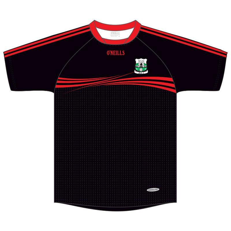 Athy GAA Kids' Short Sleeve Training Top (Black)