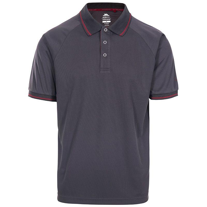 Trespass Men's Bonington Polo Shirt Dark Grey / Merlot