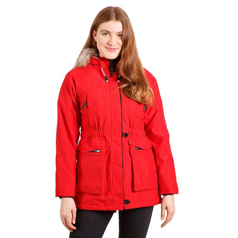Red Trespass women's waterproof parka coat with fur hood from O'Neills.