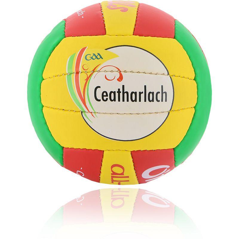 Carlow GAA All Ireland Mini Gaelic Football Red / Emerald / Amber