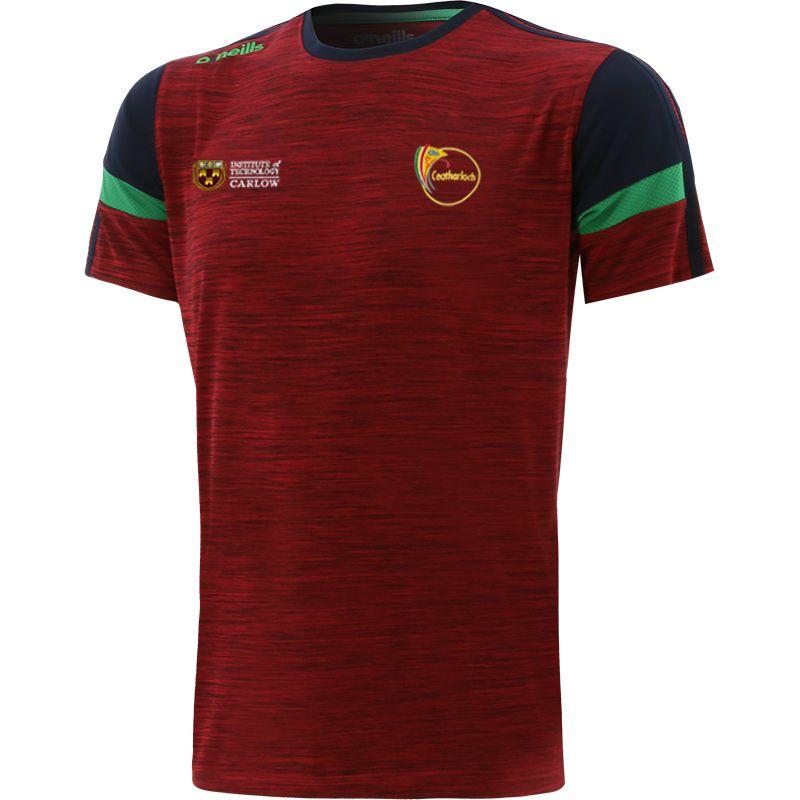 Carlow GAA Kids' Portland T-Shirt Red / Marine / Green