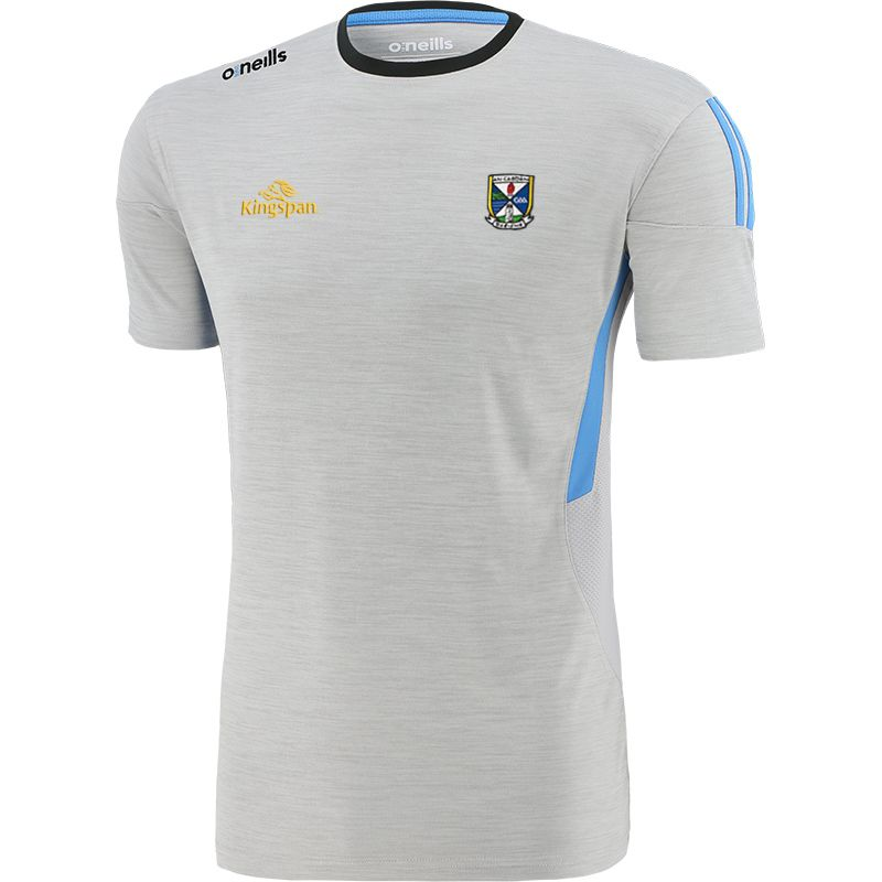Cavan GAA Men's Raven T-Shirt Silver / Blue / Dark Grey