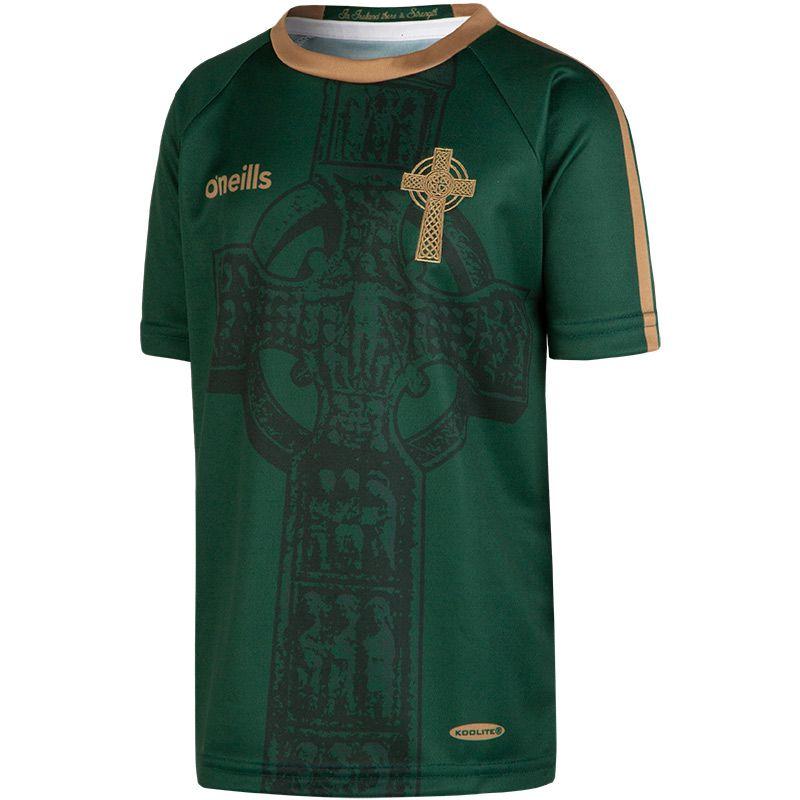 Celtic Cross Kids' Jersey Green