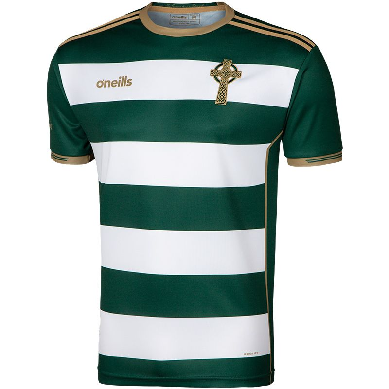 Women's Celtic Cross Hooped Jersey Green / White