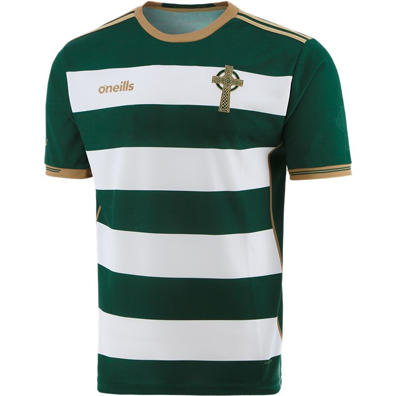 Celtic Cross Hooped Jersey Green / White