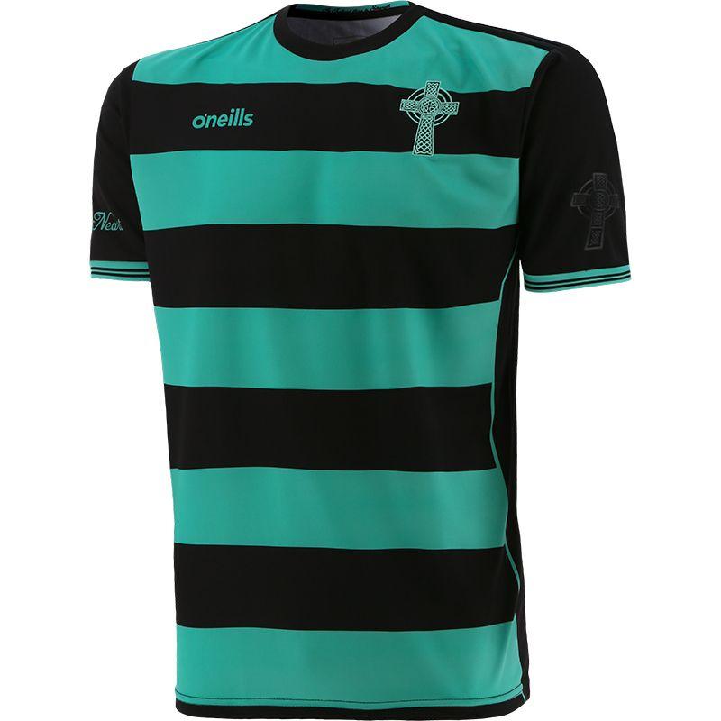 Celtic Cross Hooped Jersey Black / Green