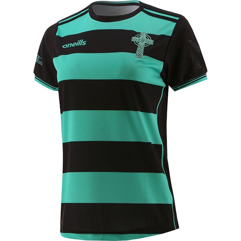 Celtic Cross Hooped Women's Fit Jersey Black / Green
