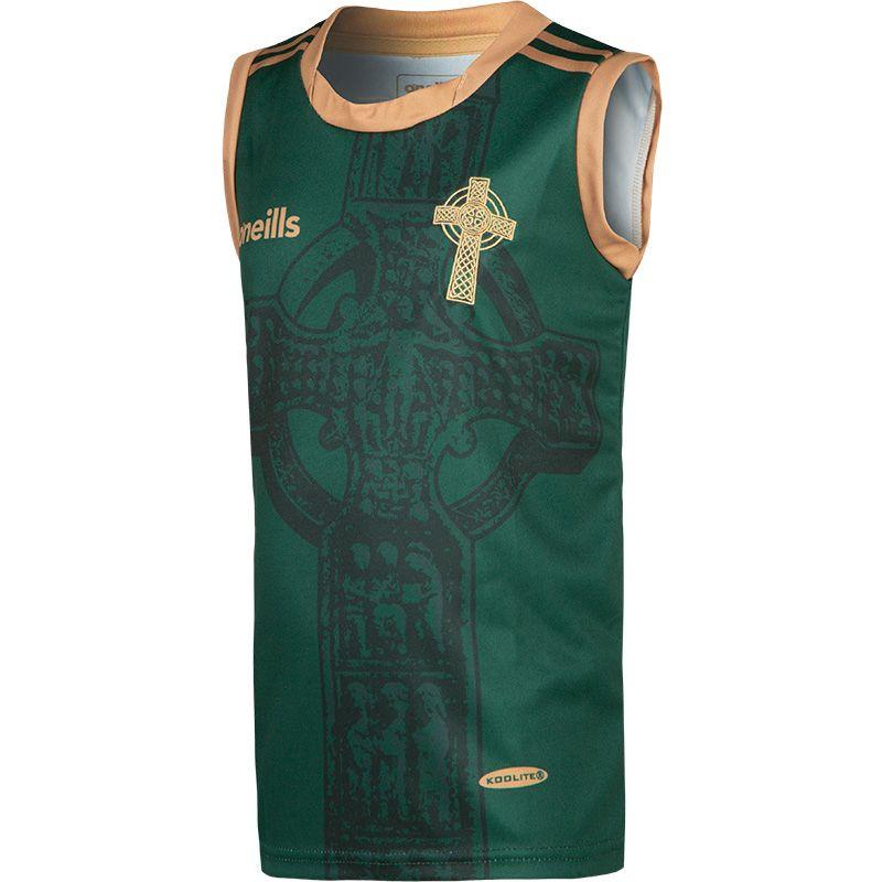 Celtic Cross Vest Kids' Green