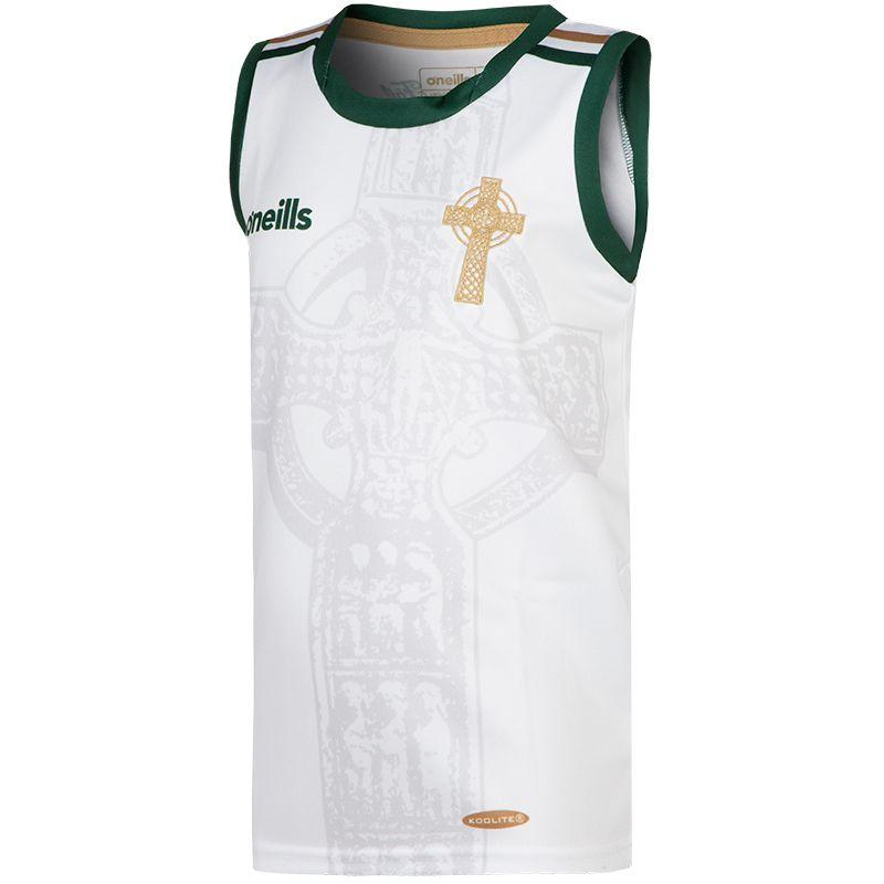 Celtic Cross Vest Kids' White