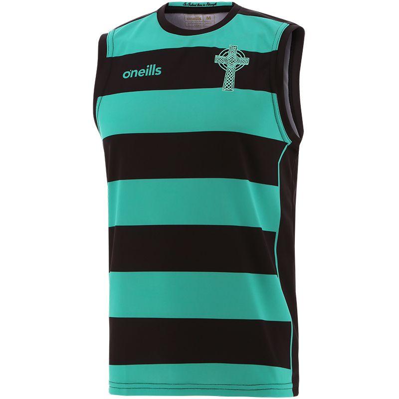 Celtic Cross Hooped Vest Black / Green